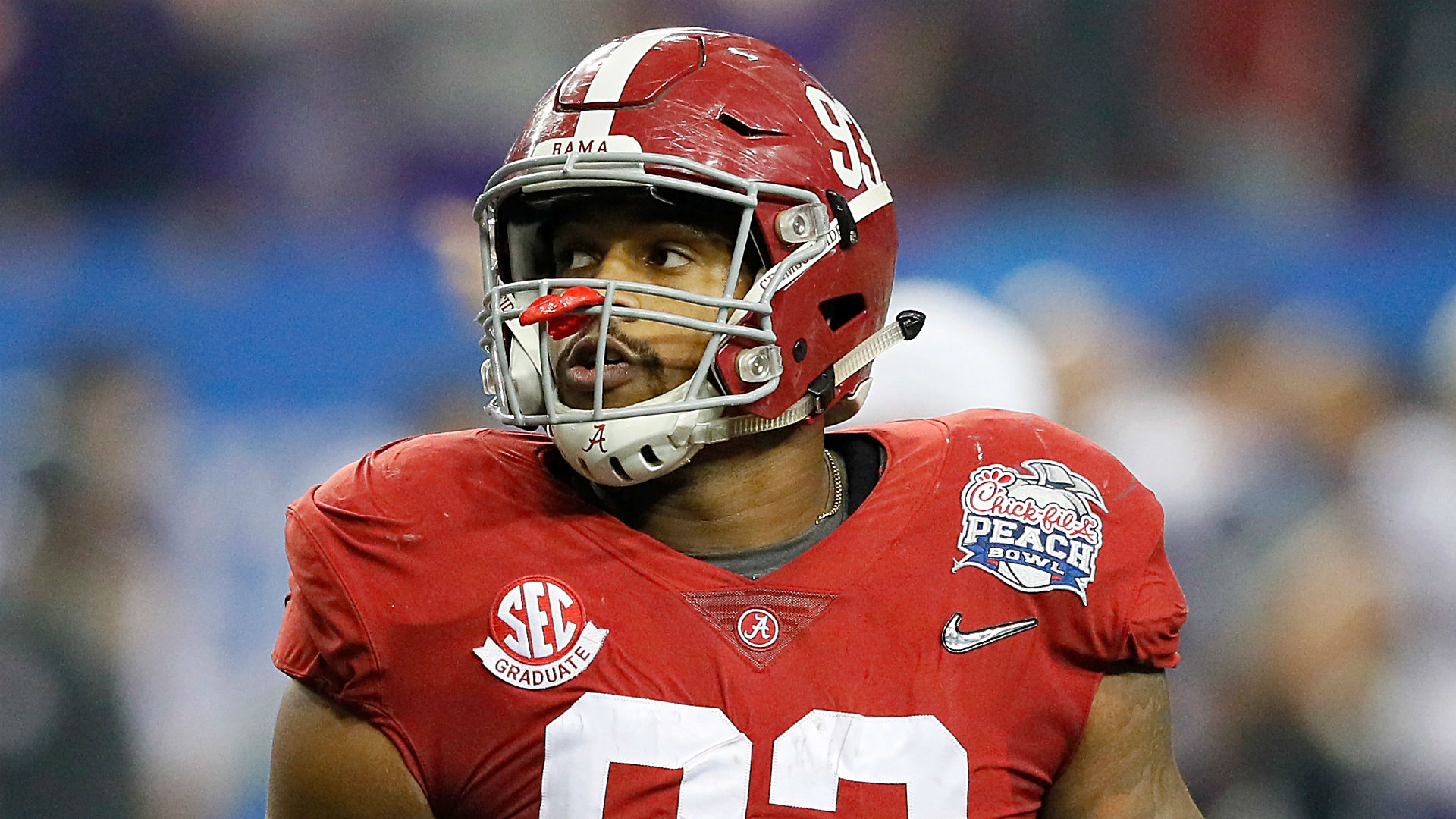 Alabama DE Jonathan Allen falls to Redskins