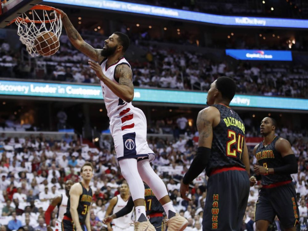 Hawks hit a Wall, Wizards best Hawks 114-107 in first playoff game